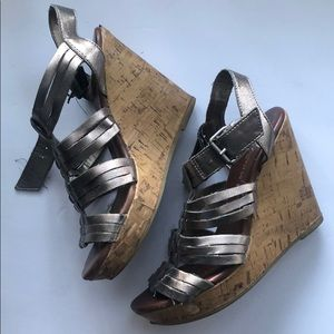 Silver wedges / US 5.5